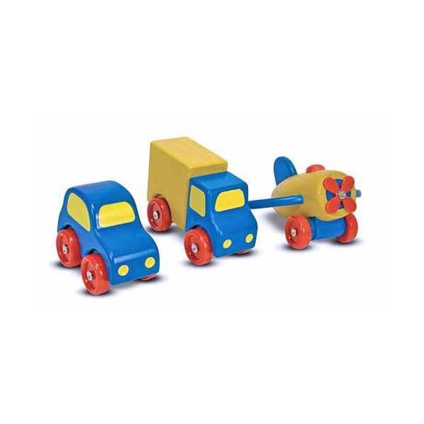 Set vehicule din lemn