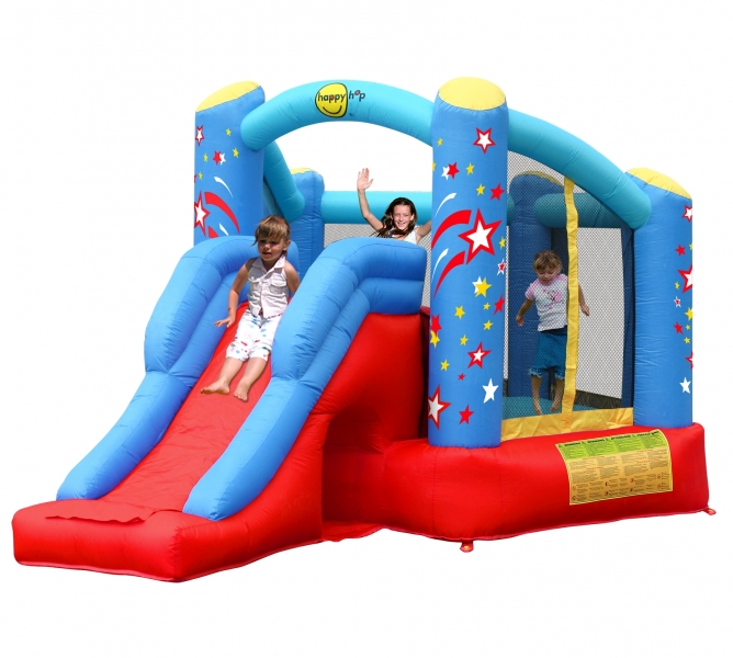 Spatiu joaca gonflabil Happy Hop Combo cu tobogan