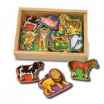 Animale de lemn cu magneti