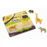Puzzle cu maner-Animalele din savana