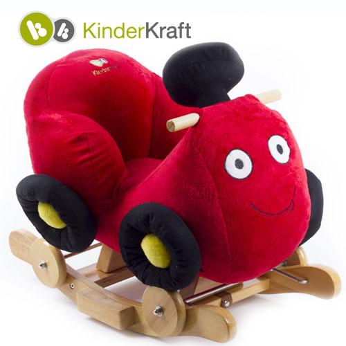 Balansoar cu roti 2 in 1 Race Red cu sunete