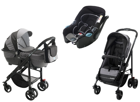 Carucior Pali 3 in 1 Alize London Black