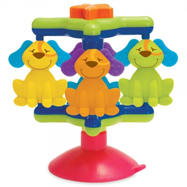 Carusel cu ventuza si catelusi Manhattan Toy