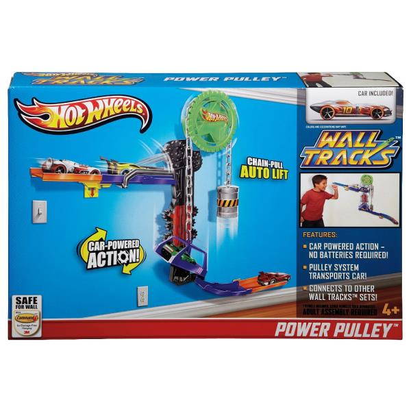 Circuite de perete Hot Wheels - POWER PULLEY