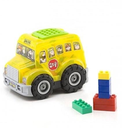 Jucarie Chipolino cuburi in autobus 50 piese