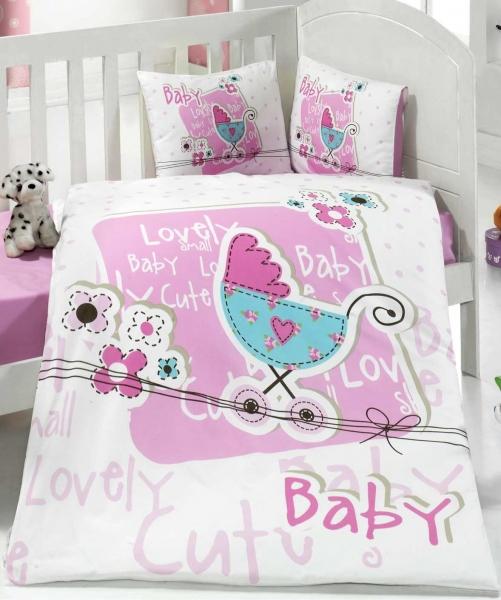 Lenjerie pentru bebelusi Clasy Lovely Baby v1 roz