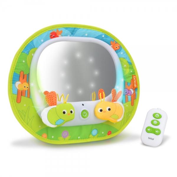 Oglinda auto muzicala cu lumini Baby In-Sight licurici Brica