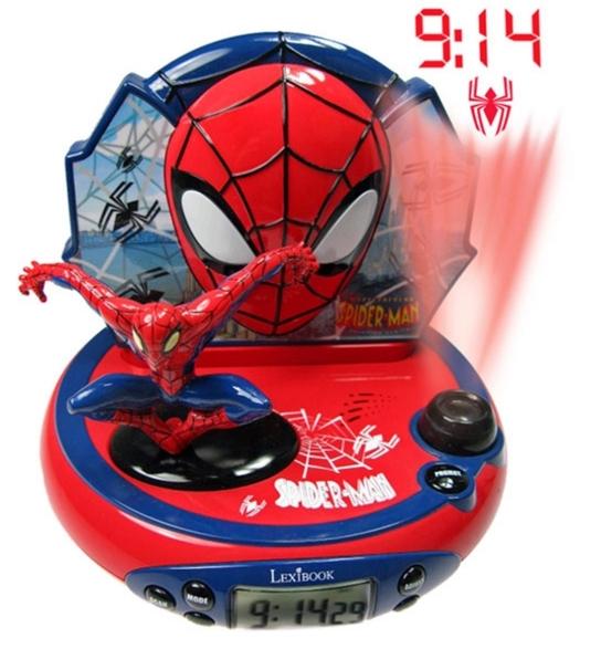 Radio cu ceas, alarma si proiectie Spiderman