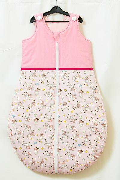 Sac de dormit toamna - iarna Blanite roz 85 cm