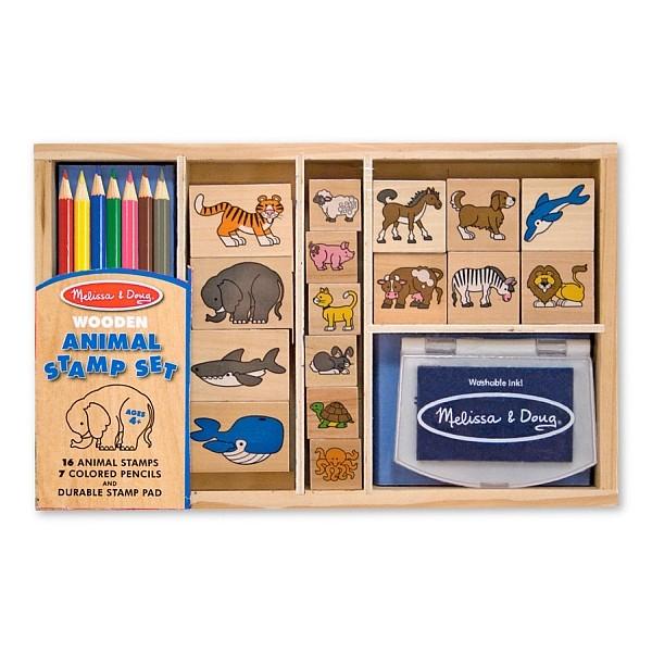 Set de stampile cu Animale