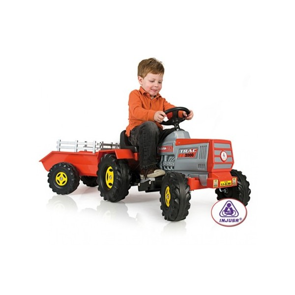 Tractor electric copii cu remorca 6 v INJUSA (INJ636)