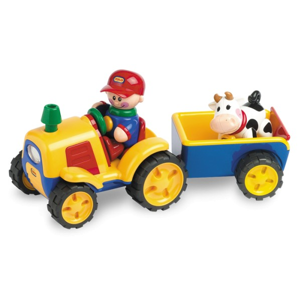 Tractor electronic cu remorca si vacuta First Friends