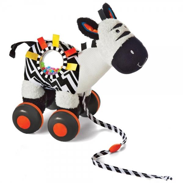 Zebra cu roti Manhattan Toy