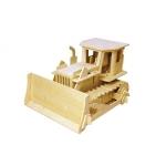 Buldozer - Puzzle 3D din lemn