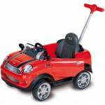 Masinuta Mini Cooper cu maner de impins