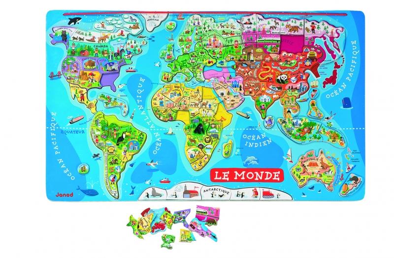 Harta magnetica a lumii (Lb. franceza) (