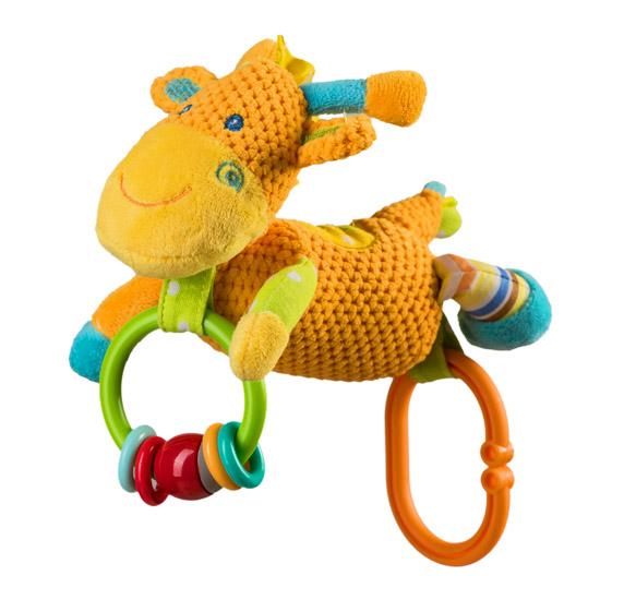 Jucarie din plus cu clopotel Girafa