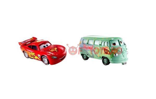 Set 2 Masinute Cars 2 - Race Team + Fulg
