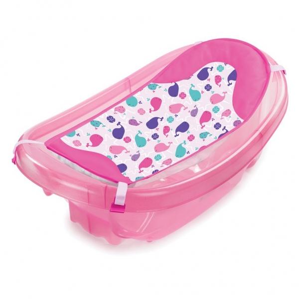 Set cadita si suport de baita Sparkle and Splash Pink