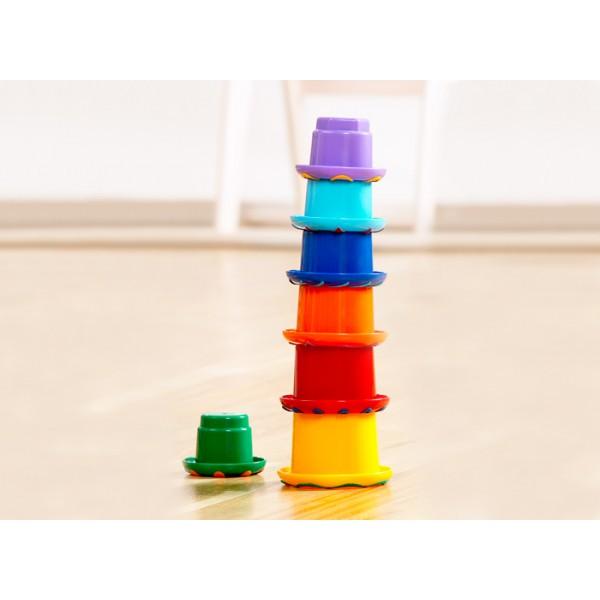 Tolo - Piramida curcubeu din cupe