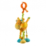 Jucaria de plus cu vibratii si zornaitoare Girafa