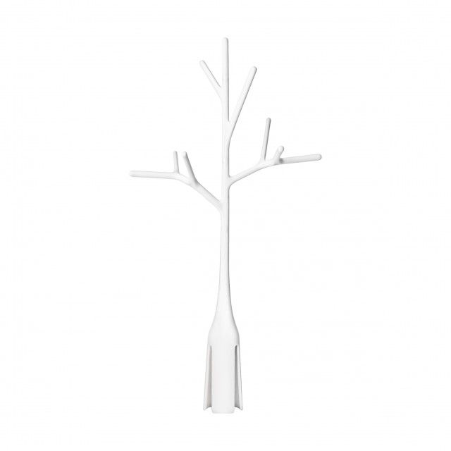 Accesoriu uscare biberoane Twig Alb