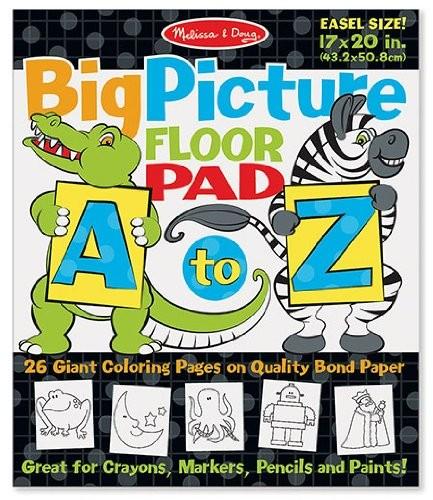 Bloc gigant de colorat cu litere si animale
