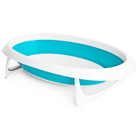 Cadita de baie pliabila albastra NAKED
