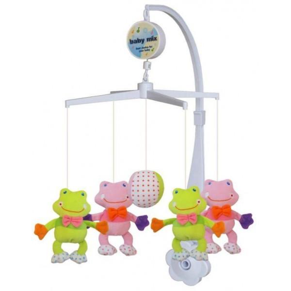 Carusel muzical Frogs din categoria Camera copilului de la BABY MIX