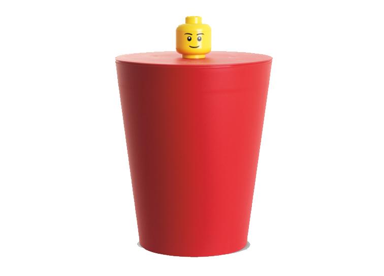 Cos multifunctional LEGO rosu