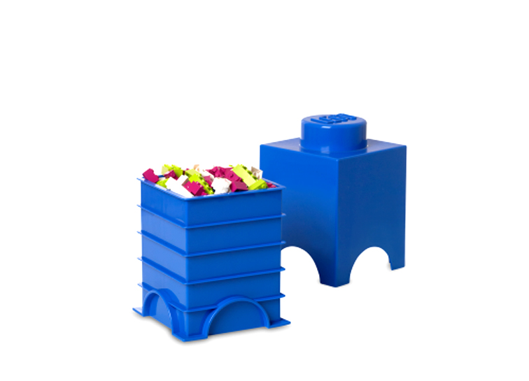 Cutie depozitare LEGO 1x1 albastru inchis