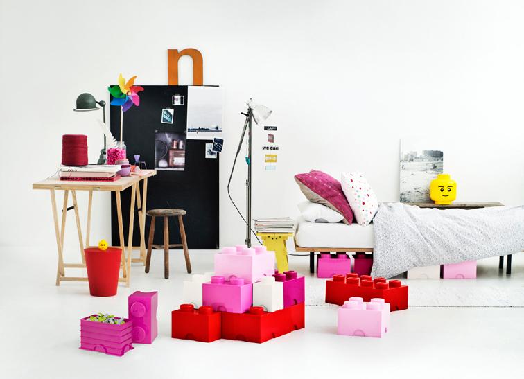 Cutie depozitare LEGO 1x2 rosu