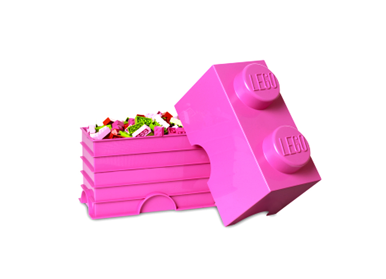 Cutie depozitare LEGO 1x2 roz