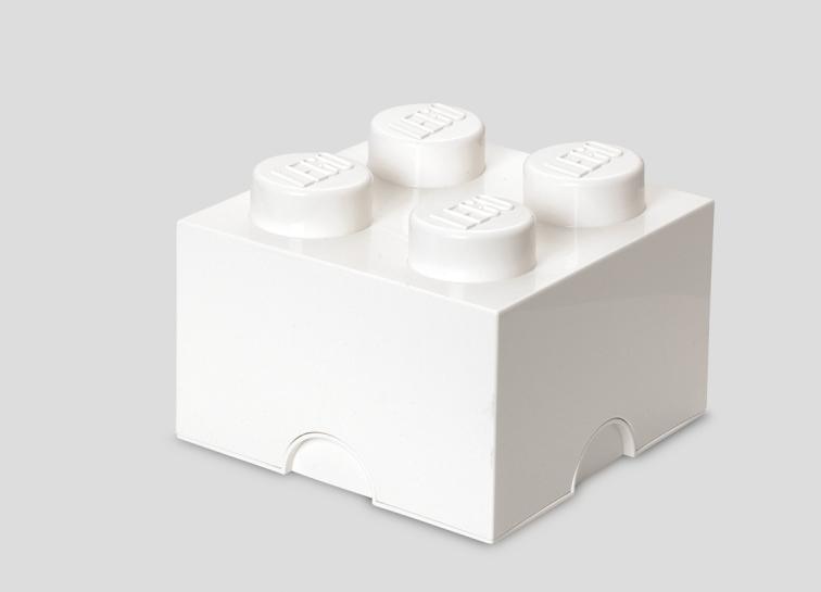 Cutie depozitare LEGO 2x2 alb