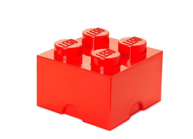 Cutie depozitare LEGO 2x2 rosu