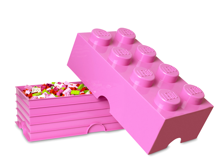 Cutie depozitare LEGO 2x4 roz