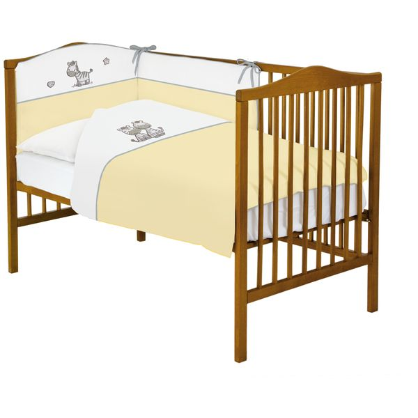 Lenjerie de pat cu 3 piese Zebra Galben