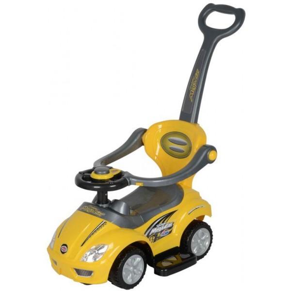 Masina pentru copii 3 in 1 Deluxe - galben