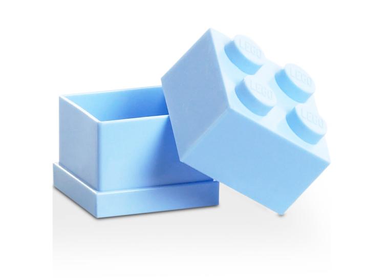 Mini cutie depozitare LEGO 2x2 albastru deschis