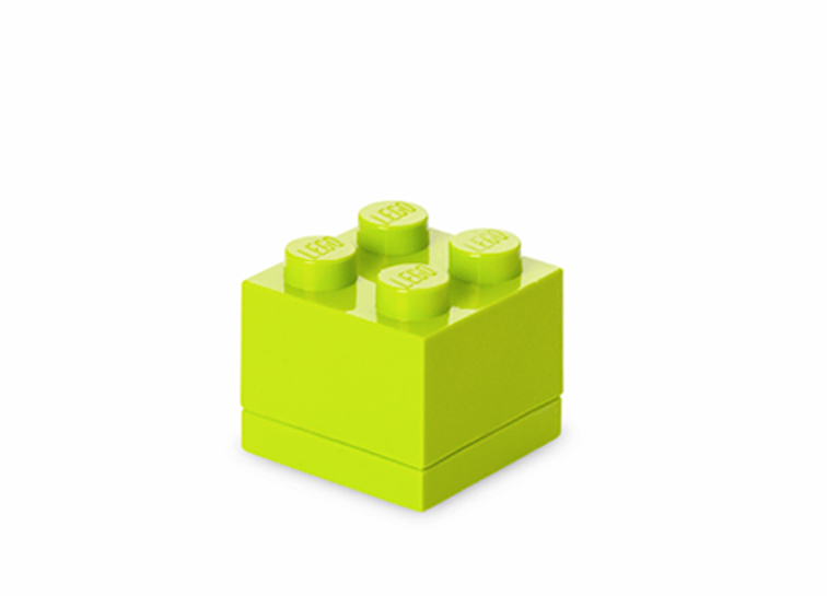 Mini cutie depozitare LEGO 2x2 verde deschis