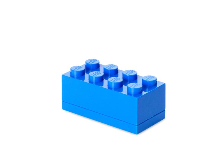 Mini cutie depozitare LEGO 2x4 albastru inchis