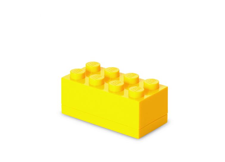 Mini cutie depozitare LEGO 2x4 galben