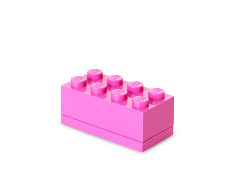 Mini cutie depozitare LEGO 2x4 roz