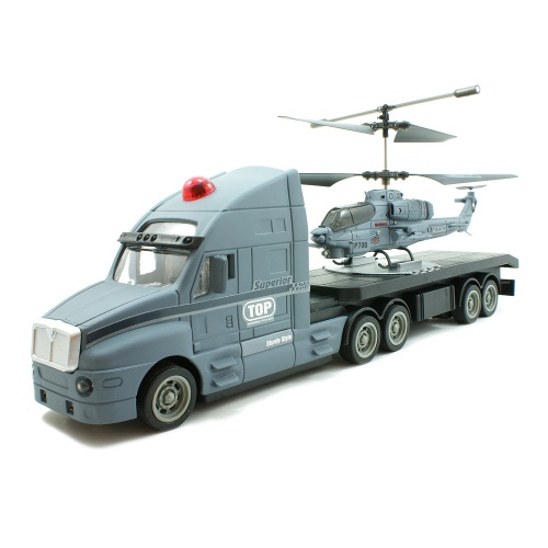 Set Combo Camion + Elicopter RC 2 in 1