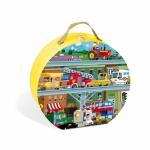Puzzle in cutie - Vehicule (100 piese) (J02877)