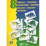 Sabloane pentru desen - Dinozauri - Set G