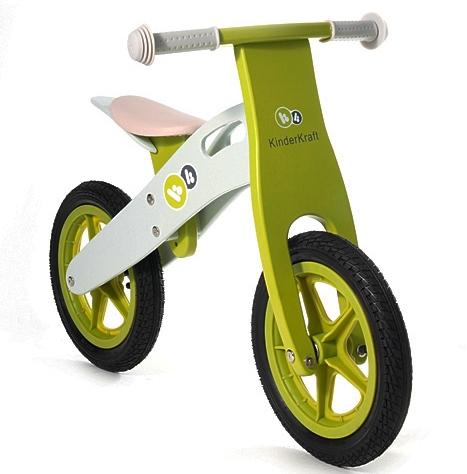 Bicicleta Din Lemn Fara Pedale Runner Deluxe Green