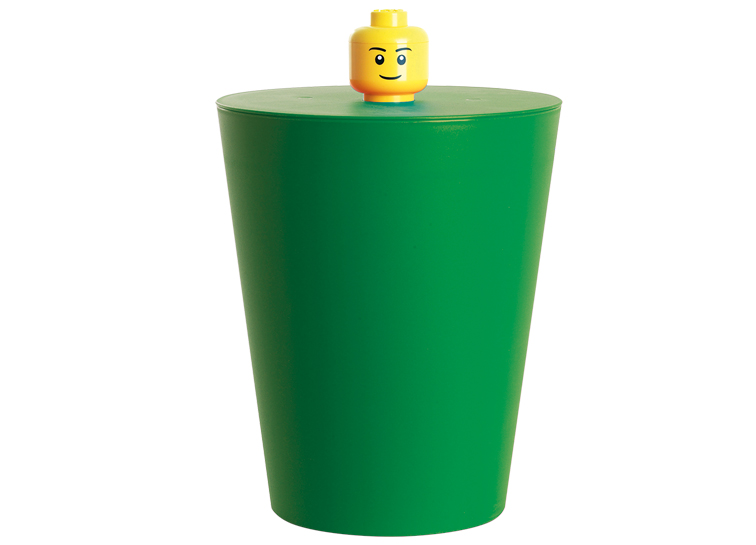 Cos multifunctional LEGO verde inchis