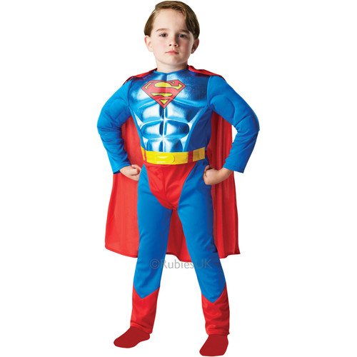 Costum metalizat de carnaval - SUPERMAN