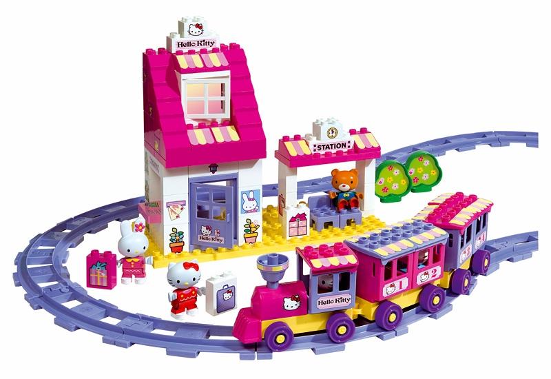 Cuburi Statie de tren Big Hello Kitty